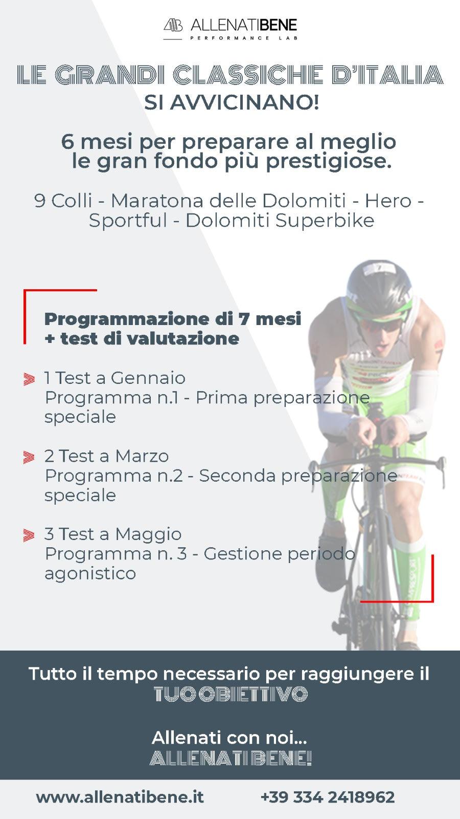 allenati bene preparazione sportiva per ciclisti